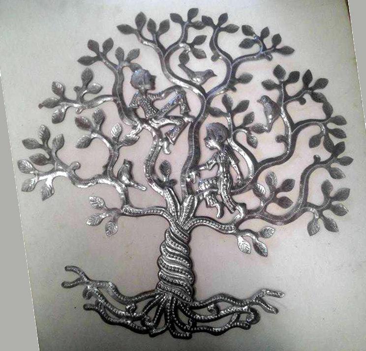 l 39 arbre de la vie avec les gens et les oiseaux tenture arbre de vie en m tal illustration des. Black Bedroom Furniture Sets. Home Design Ideas