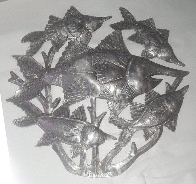 Aparador Suspenso Mercado Livre ~ Les poissons Décor de la Paroi Métallique de l'Art, de la