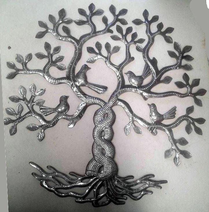 la travers e des arbres de vie avec des oiseaux d coration